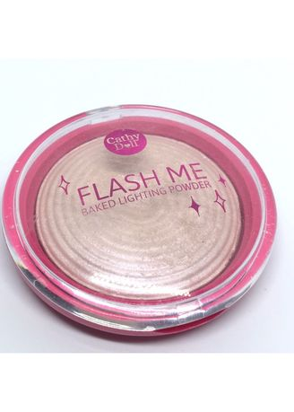 Gold color Face . Cathy Doll Flash Me Baked Lighting Powder แป้งแสงแฟลช 8g. เนื้อBakedผสมชิมเมอร์ -