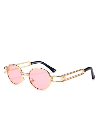 Sunglasses . Hot Style Oval Metal Steampunk Sunglasses In Europe And The Street -
