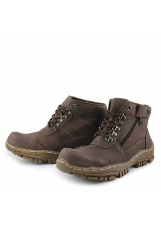 Brown color Boots . Sepatu Pria Safety Boots ​/​ Work's Boots Sepatu Ujung Besi Proyek Kerja Lapangan Tracking Bikers Touring Cream -