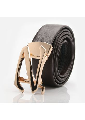 Tan color Belts . Word Men's Belt Casual Automatic Buckle Leather -