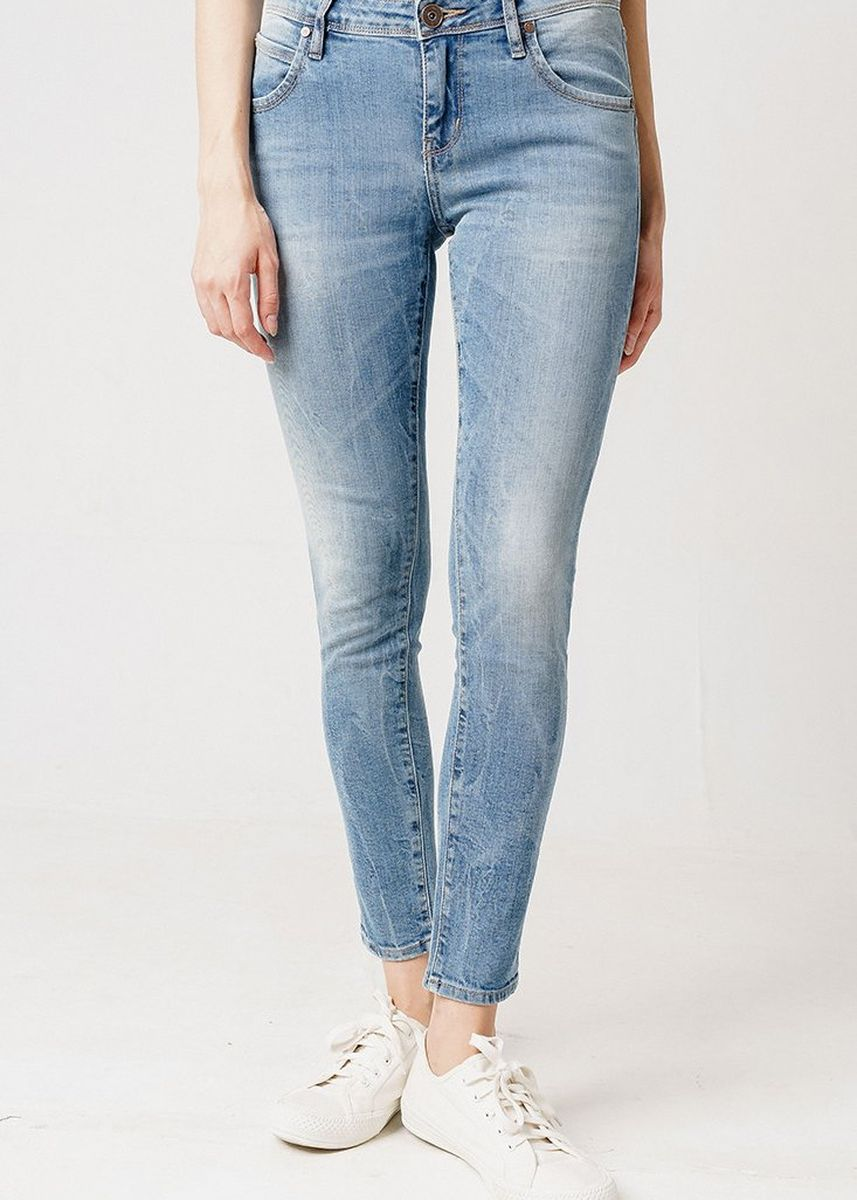 Blue color Jeans . Greenlight Women Denim Pants 020219 -