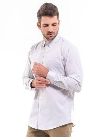 Grey color Casual Shirts . MANLY Kemeja Regular Fit Yerson Grey -