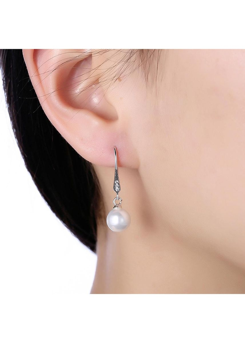 Silver color  . Sterling Silver Earrings -