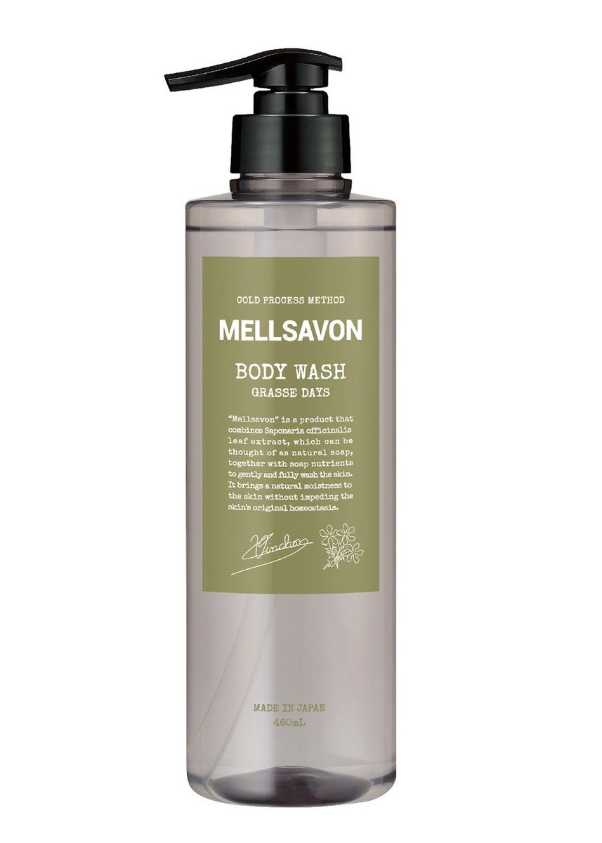 No Color color Body Wash . Mellsavon Body Wash Grasse Days- 460 ml -