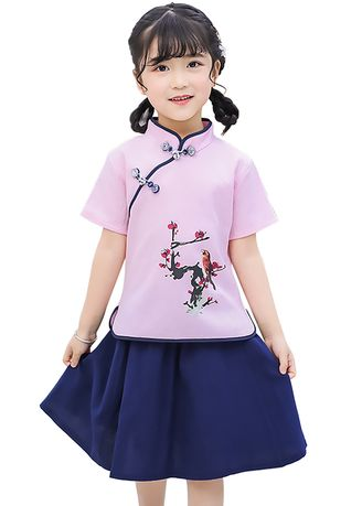Sets . Girls T-Shirt Skirt Set -