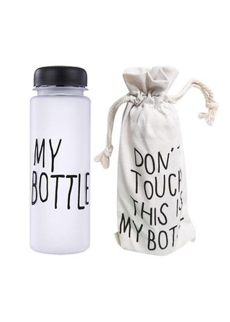 Black color Kitchen . Atdiva My Bottle Free Pouch Botol Minum Bening BPA Free Import -