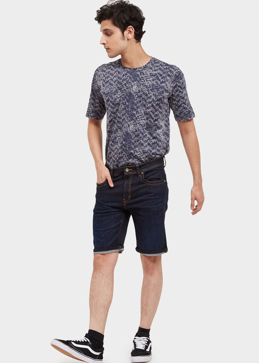 Navy color Shorts & 3/4ths . USED JEANS - 585 Short Pants in Navy -