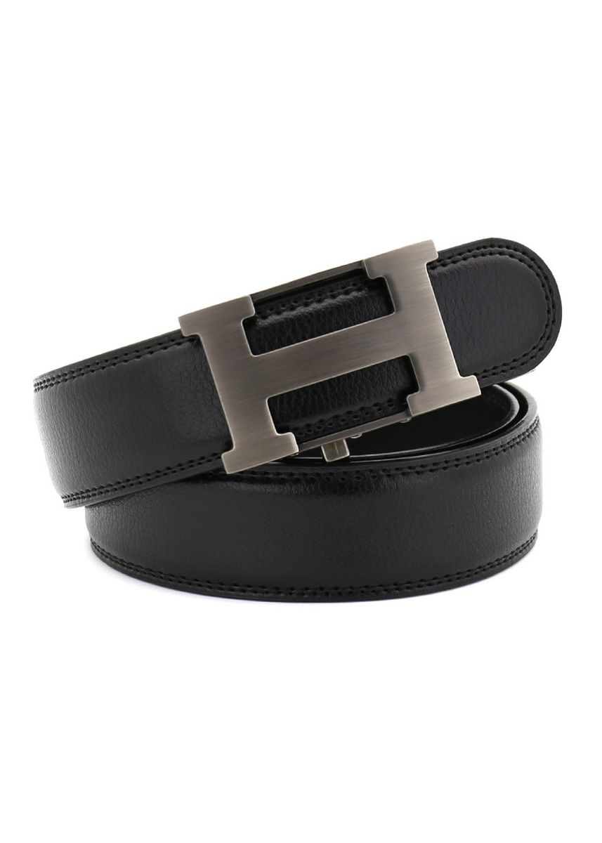 ดำ color เข็มขัด . Leisure Fashion On The Second Floor Leather Automatic Belt Buckle -