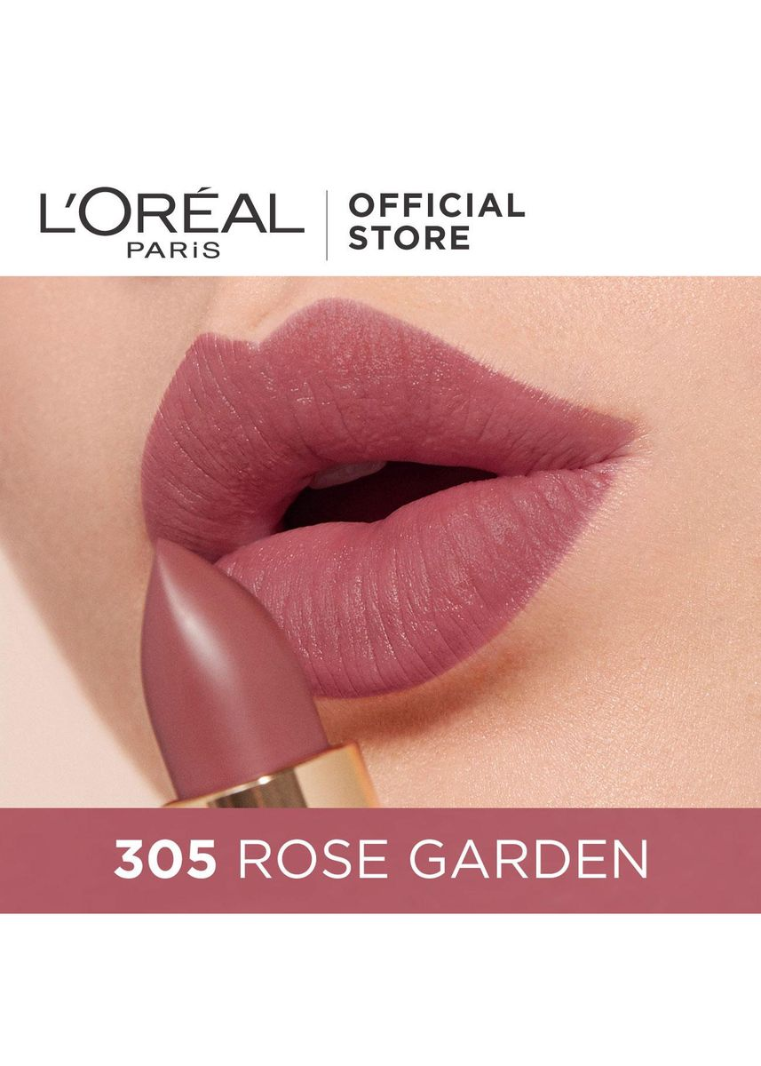 Pink color Lips . Color Riche Mattes Earth on Fire - 305 Rose Garden by L'Oreal Paris -