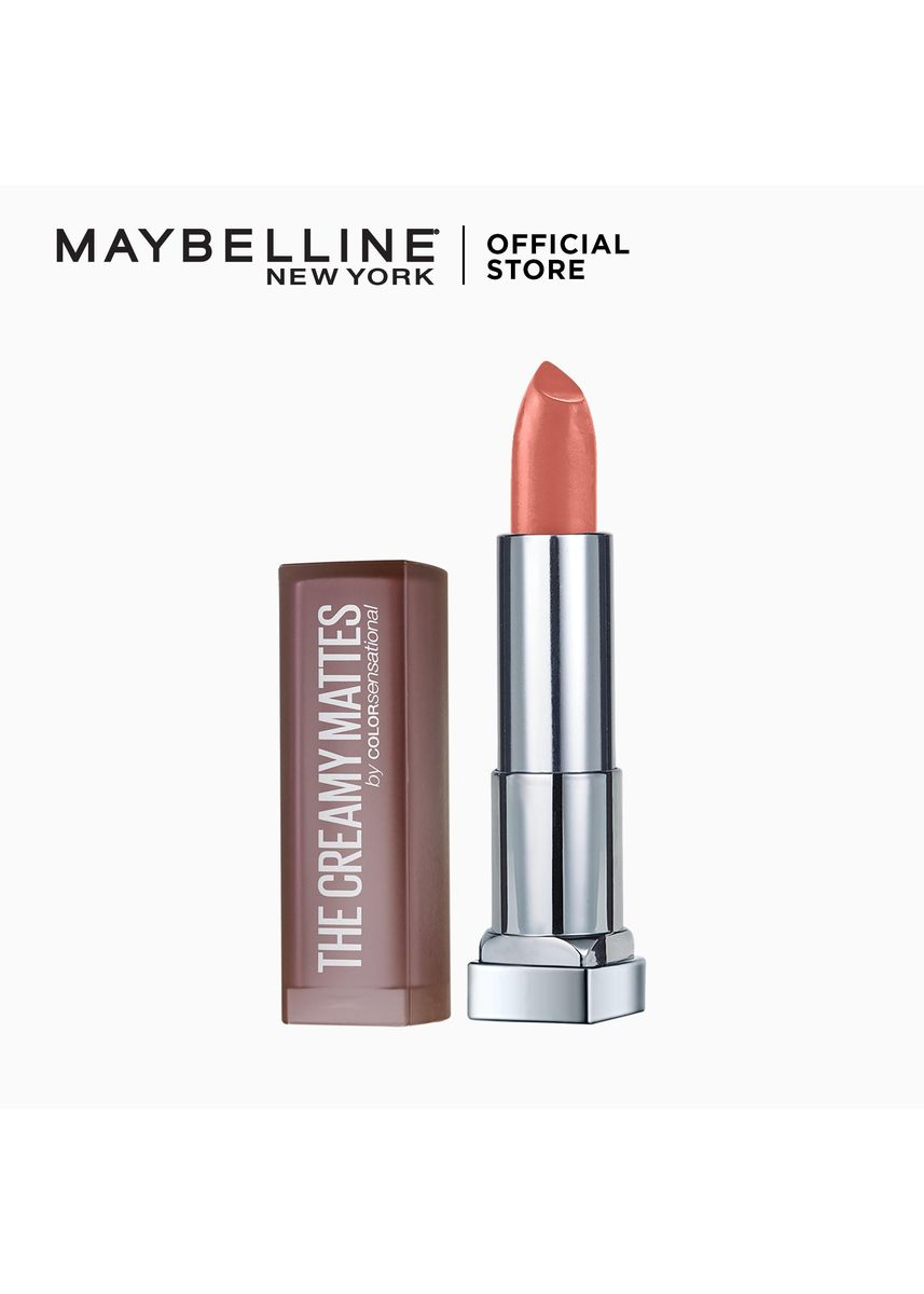 Red color Lips . Creamy Matte Lipstick [New York's #1] by Maybelline Color Sensational(Clay Crush) -