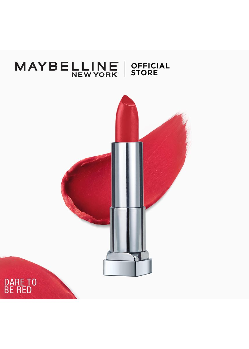 Red color Lips . Creamy Matte Lipstick [New York's #1] by Maybelline Color Sensational(Dare to be Red) -