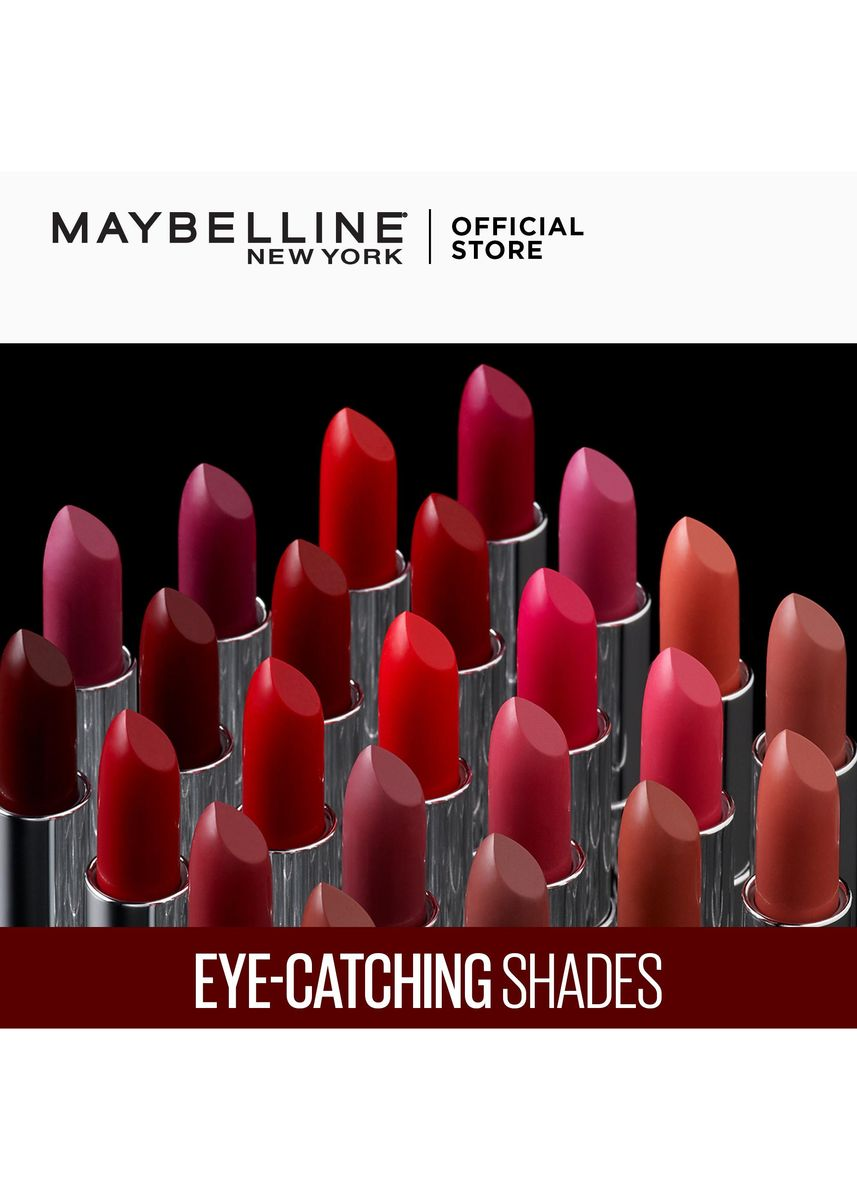 Red color Lips . Creamy Matte Lipstick [New York's #1] by Maybelline Color Sensational(Code Red) -