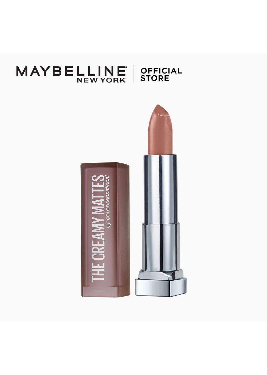 Brown color Lips . Creamy Matte Lipstick [New York's #1] by Maybelline Color Sensational(Mysterious Mocha) -