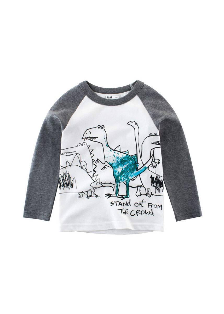 เทา color เสื้อ . Boys Long Sleeve T-Shirt Baby Bottoming Shirt Children's Wear INS -
