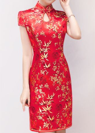 Spring And Summer New Wedding Ceremony Welcome Miss Dress Red