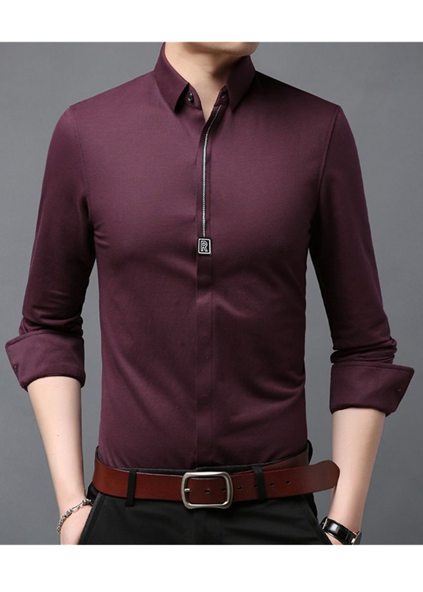 Red color Casual Shirts . Men's Comfortable Casual Insulation Cotton Shirts -