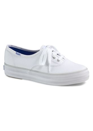 White color Casual Shoes . Keds Triple Seasonal Solid Shoes -