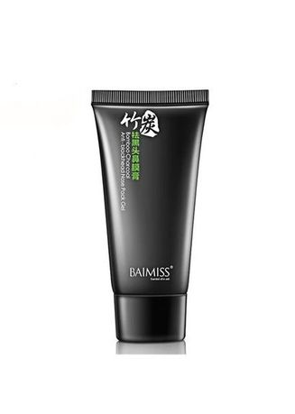 No Color color Masks . Baimiss Bamboo Charcoal Anti-Blackhead Nose Pack Gel -