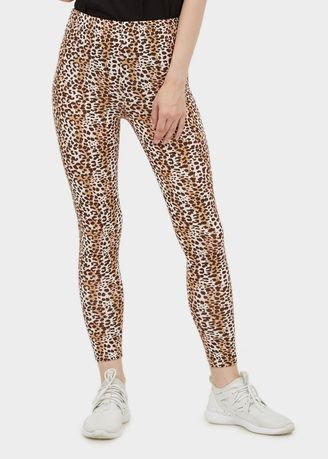 Brown color Leggings . Printed Leapard Leggings -