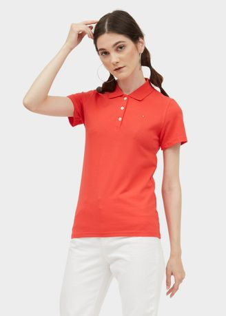 Red color Tees & Shirts . Polo Tee - Solid -