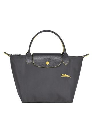 Grey color Hand Bags . longchamp LE PLIAGE CLUB TOP HANDLE BAG size sหูสั้น -