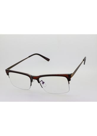 Brown color Frames . AXN Rectangle Clubmaster Anti-Radiation Glasses -