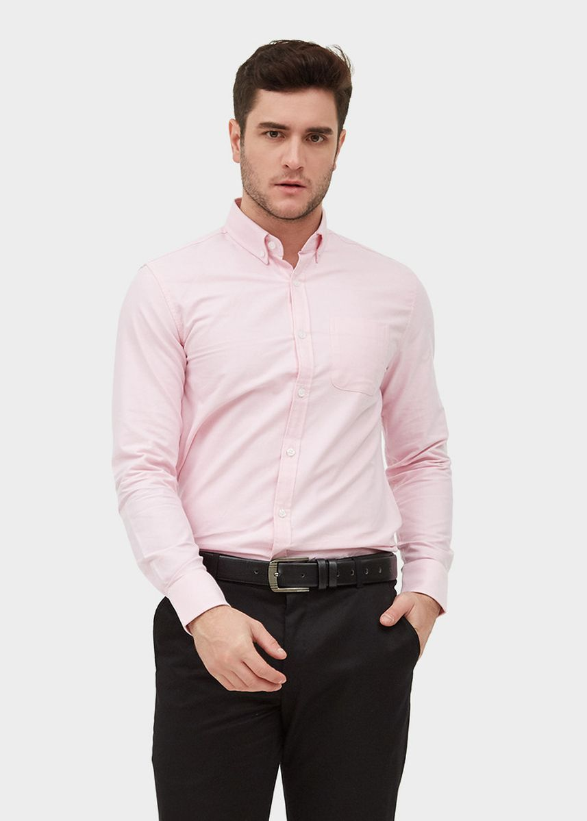 Pink color Formal Shirts . L/S Regular Fit Shirt -