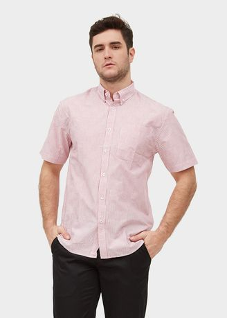 Red color Casual Shirts . S/S Regular Fit Stripe Shirt -