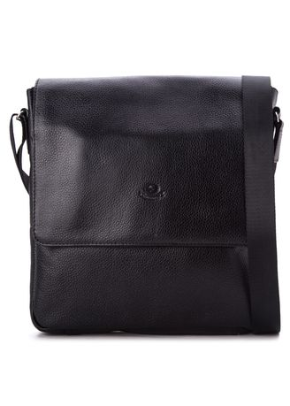 Black color Messenger Bags . MJ by McJim Leather Body Bag With Internal Pockets -