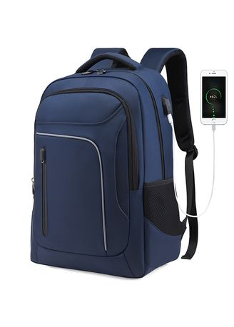 Blue color Backpacks . Outdoor  Meeting Fashion Backpack -