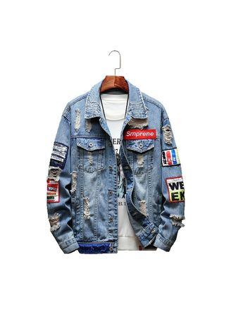 Jackets . Men Fashion Hip Hop Casual Denim Jacket -