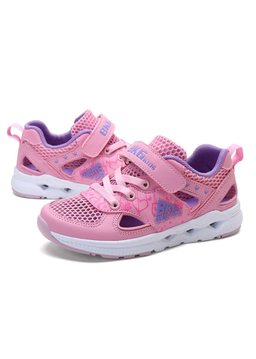ชมพู color รองเท้า . Non-slip breathable and comfortable girl shoes -