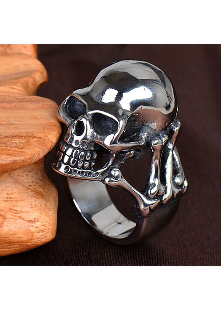 Silver color Rings . New Individuality of Titanium Steel Men -