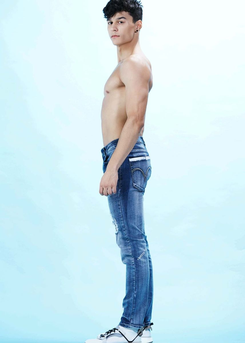Navy color Jeans . AvelxMatteo AGUSTIN Jeans -
