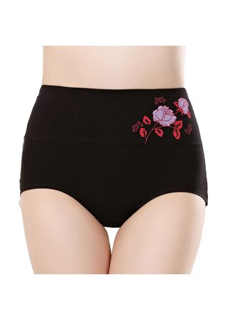 9d84f54dd530 Women Printed high-waisted ladies panty cotton postpartum high-waisted  underwear 2Pcs