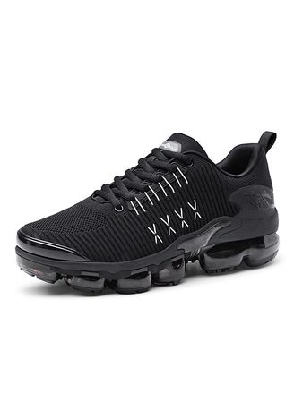 Black color Sports Shoes . Full Palm Cushion Shoes Men's Casual Sports Gym Slip Running Tide -