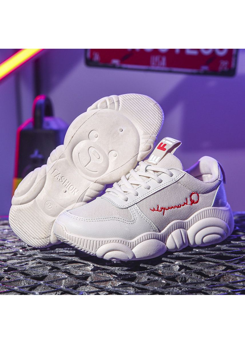 White color Sports Shoes . Harajuku Style Sneakers -