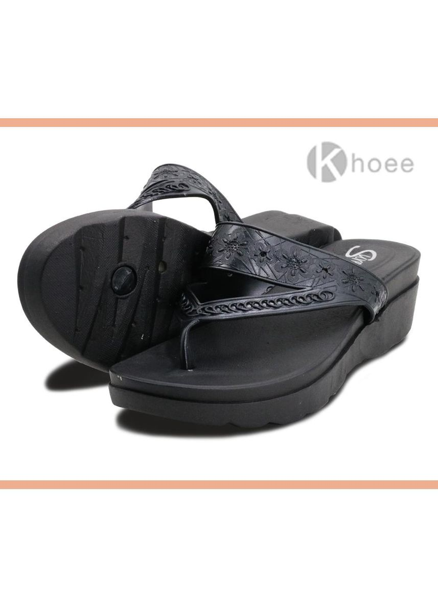 Black color Sandals and Slippers . Khoee Bea Women's Slides Flat Slippers Sandals Women's Sandals -