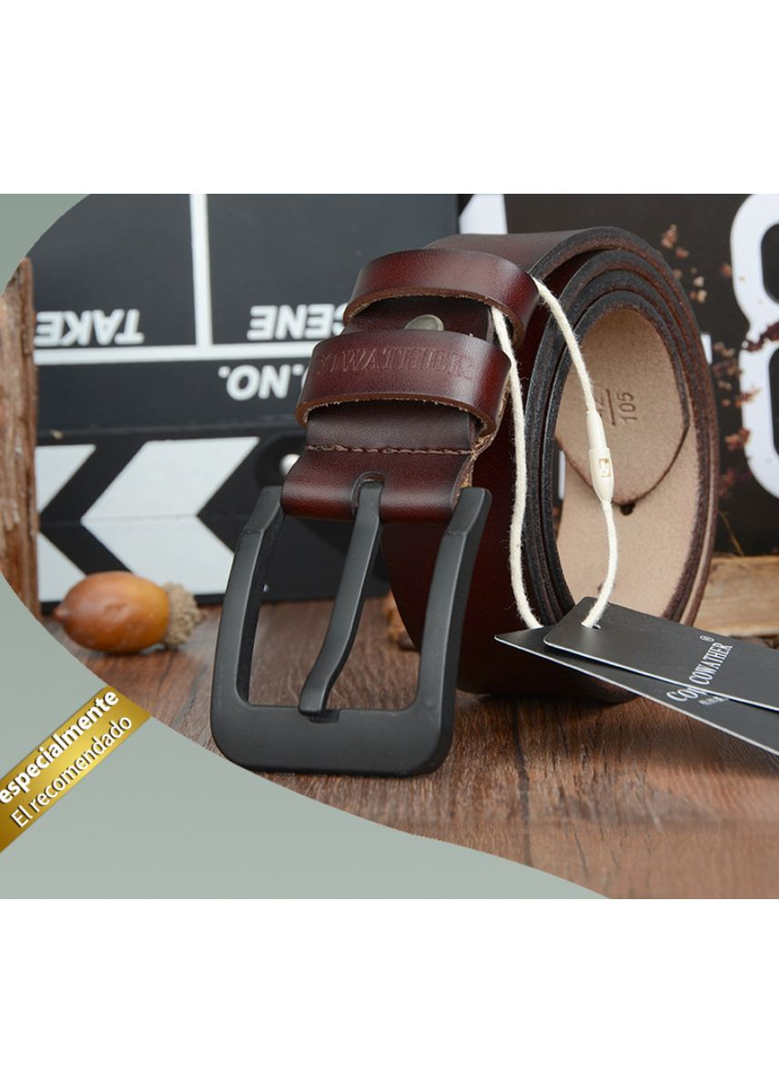 Brown color Belts . Casual male pin buckle belt -