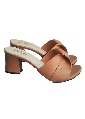 fce6ec55abdd NEW Beauty Block Heels Shallop Tan Y-17