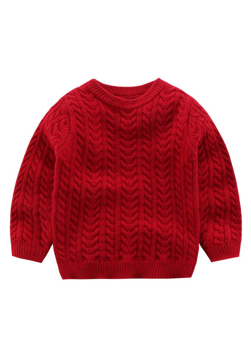 แดง color เสื้อ . Children's spring cotton sweater sweater for boys and girls to keep warm -