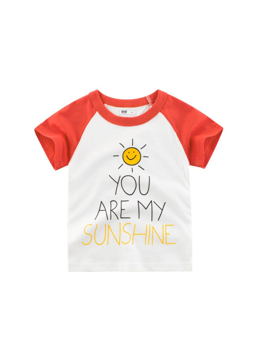 แดง color เสื้อ . Children's t-shirt boy t-shirt boy half sleeve -