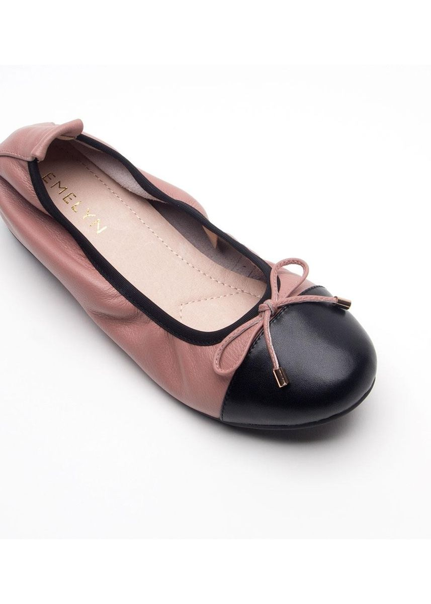 Pink color Flats . Emma Extra Comfort Series Leather Flat Shoes -