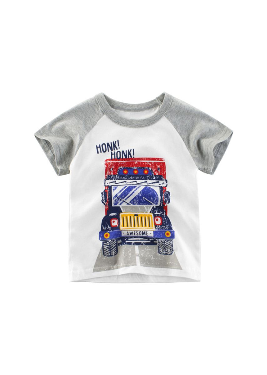 เทา color เสื้อ . T-shirt short-sleeved children's shirt baby clothes -