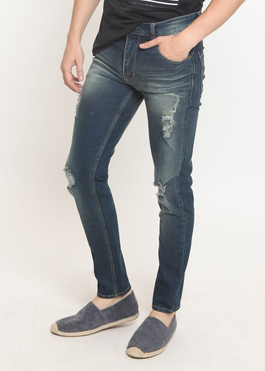 Abu-Abu color Celana Jeans . 2Nd RED Ripped Comfort Slim Fit 133261 -