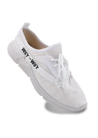 White color Casual Shoes . Marybeth Womens Fashion Sneakers Rubber Shoes -