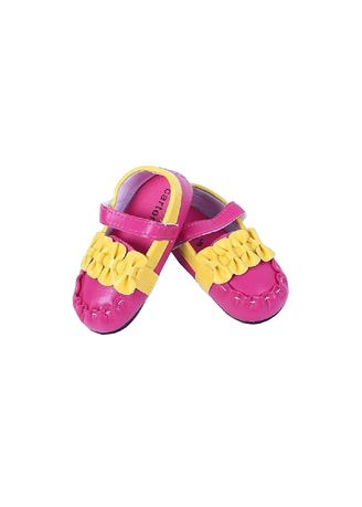 Pink color  . Prewalker Baby Toddler Lace-up Cotton Cloth Ribbon Pink Yellow s146 -
