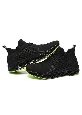 Green color Sports Shoes . Ventilation Mesh Breathable Trail Runners Fashion Sneakers -