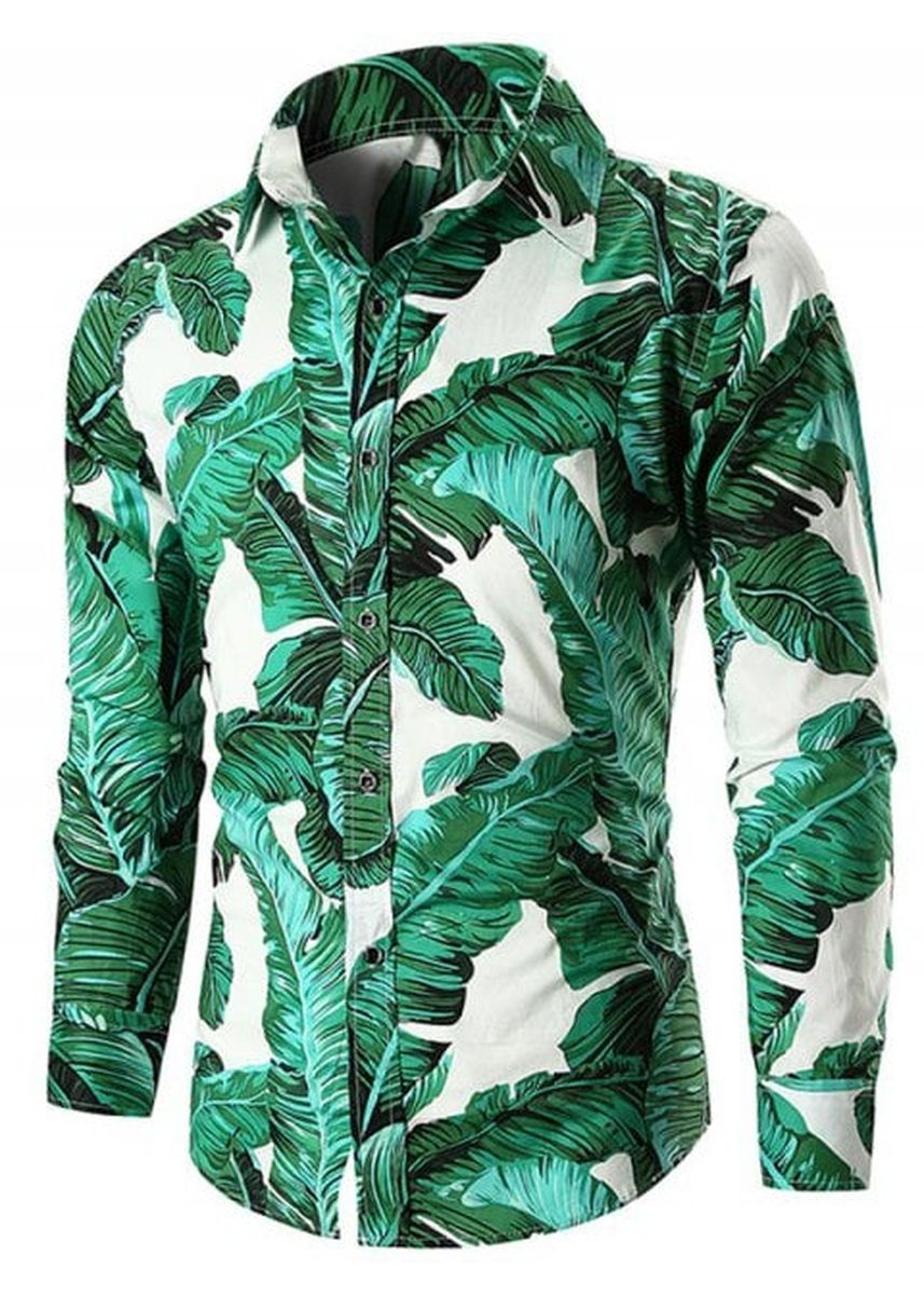 Multi color Casual Shirts . Casual Banana Leaves Print Shirt -
