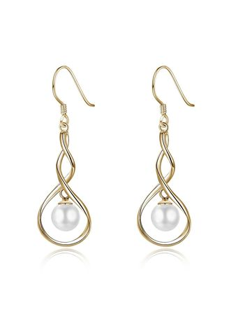 Gold color  . Women Fashion Style Design Earring -